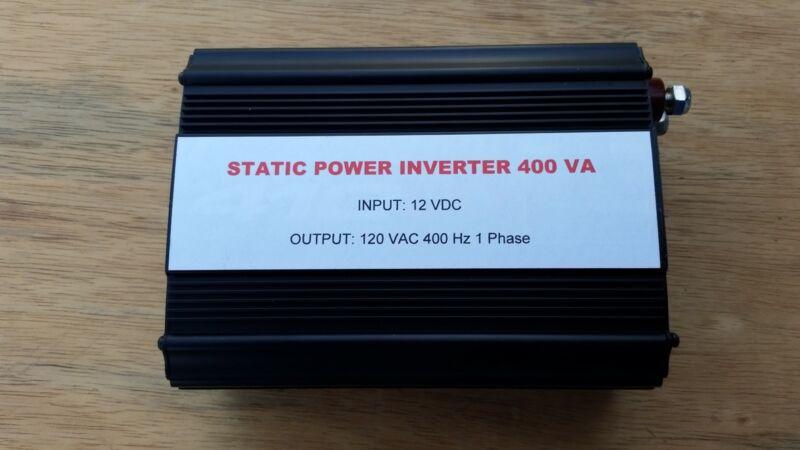 Static Inverter, 12 VDC, 400 VA, 120 VAC, 400 Hz, Fan Cooled