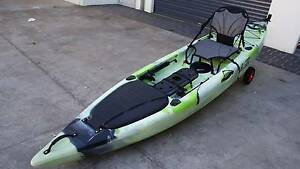 New Fishing Kayak Foot Rudder Control with New Arm Chair Albion Park Shellharbour Area Preview