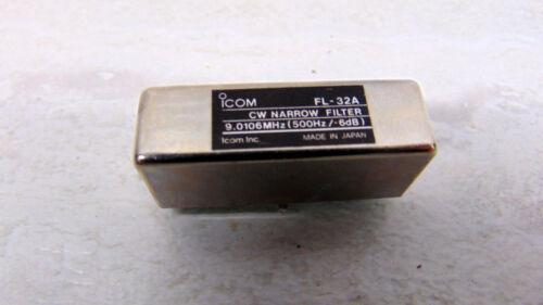 Icom FL-32A FL32A 500Hz CW Filter IC-R71A IC-751A IC-725 IC-735 R7000 etc