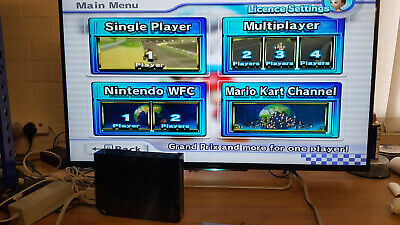 Nintendo Wii Black Console With Cables