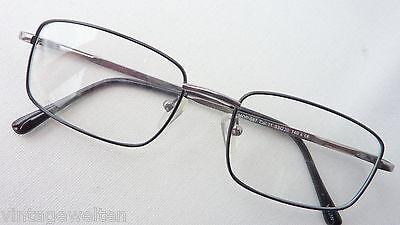 Klassische Herrenbrille Metall schwarz Federbügel einfach günstig neu size M