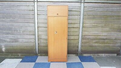 Vintage / Retro Single door free standing wardrobe with storage above
