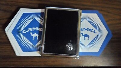 - CAMEL CIGARETTE ADVERTISING BUNDLE METAL LEATHER CASE & LIGHTER + 16 COASTERS