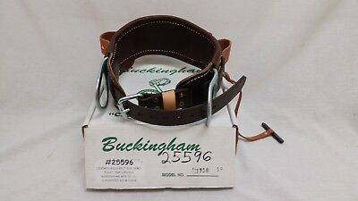Buckingham Linemens Body Belt Leather Size 1958-d19 - New Old Stock