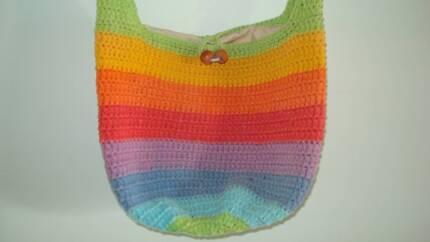 Rainbow Crocheted Hippy Boho Bag