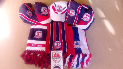 Sydney Roosters NRL Members Hats Caps Scarfs Brand New will post