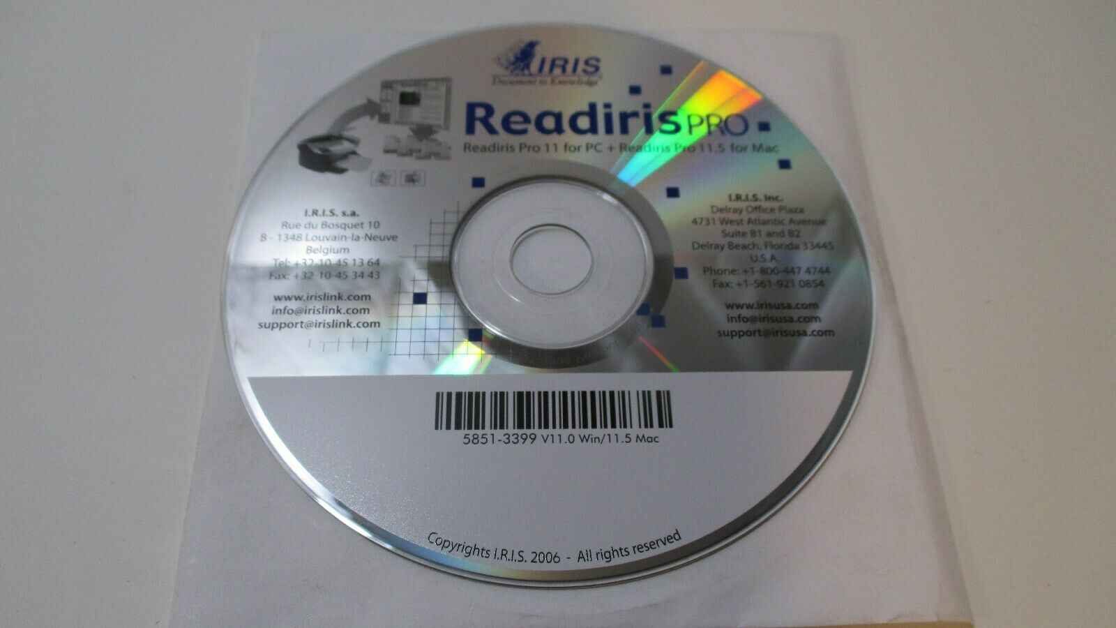 I.R.I.S. Readiris Pro 11 For PC Windows Scan Convert Share ORC Scanning Software