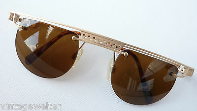 Neostyle Designer Sonnenbrille randlos Bohrbrille Metall gold Eyecatcher Gr. L