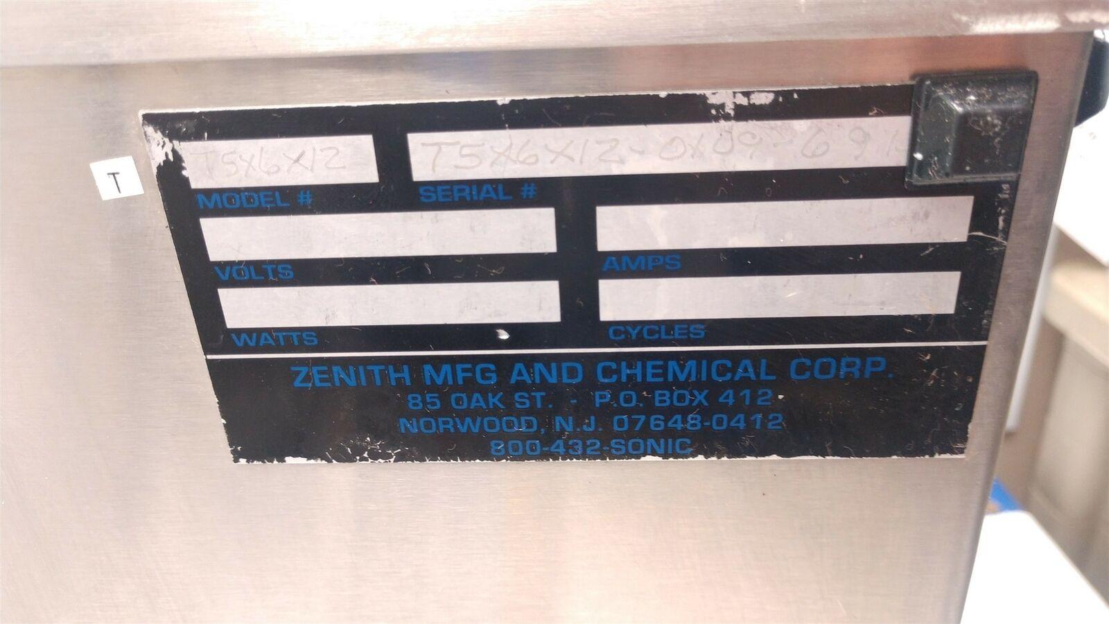 Zenith T5X6X12 & G1-40-Rev3 Industrial Ultrasonic Cleaner & Power Supply 1