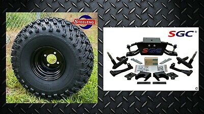 """Club Car DS Golf Cart 6"""" A-Arm Lift Kit + 8"""" Wheels and 22"""" AT Tires 1982-2003"""