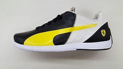 Puma Ferrari EvoSpeed 1.4 SF Black White Yellow Mens Sneakers 305555-01 1703-52