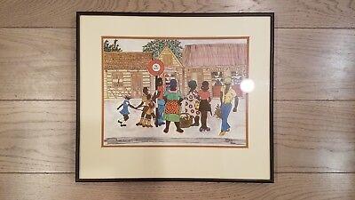 "RACHELLE ALTMAN Barbados, West Indies Art Print - 1980s - 9x12"" EUC"