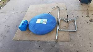 popup ensuit shower tent with 12 volt shower and stand