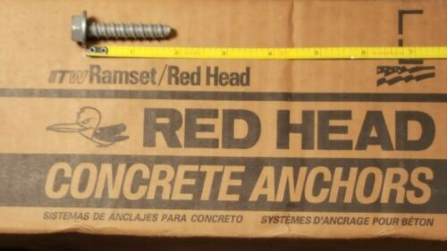 "Red Head ITW 3/8"" X 1-3/4"" Tapcon Ramset Large Dia Concrete Anchor 40PK"