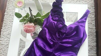 XSCAPE By Joanna Chen Designer Kleid Hochzeit Ball Party lang lila Gr.38 Size
