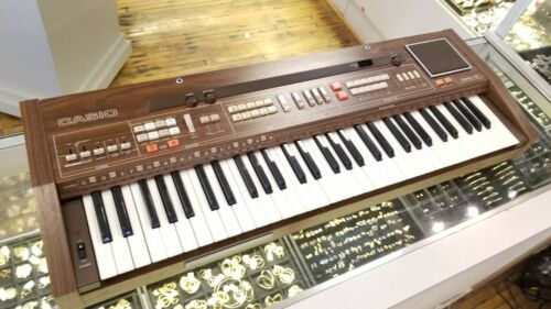 Vintage Casiotone 701 (CT-701) Piano Keyboard Synthesizer Organ Wooden Rare!