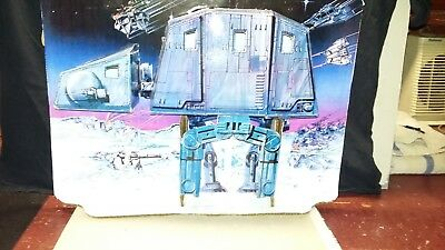 VINTAGE STAR WARS HOTH ICE PLANET AT-AT PLAYSET REPRO BACKGROUND ONLY.