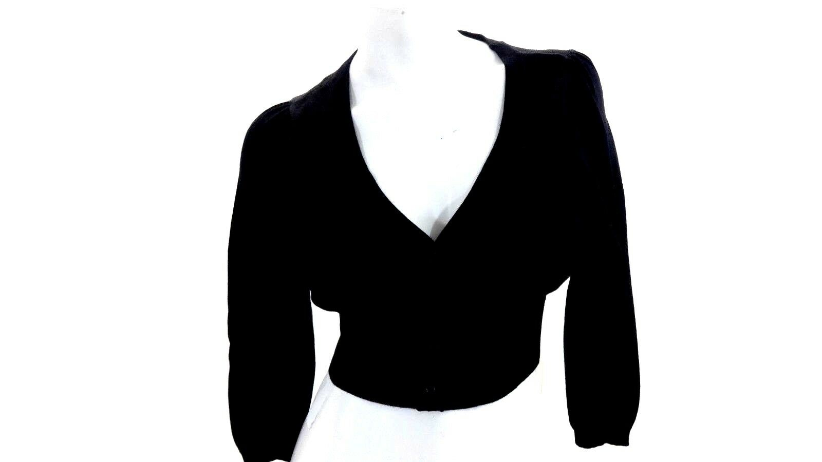 best sell biggest selection quality first Details about NWOT WORTHINGTON WOMENS BLACK CROPPED CARDIGAN SWEATER SIZE M