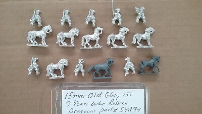 15mm Old Glory 7 Years War Russian Dragoons - 9 Year Old Games