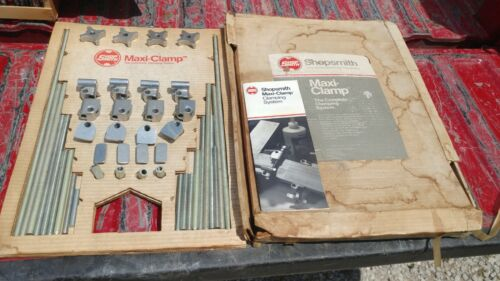 VINTAGE SHOPSMITH SHOP SMITH MAXI-CLAMP SYSTEM IN BOX COMPLETE EXCELLENT