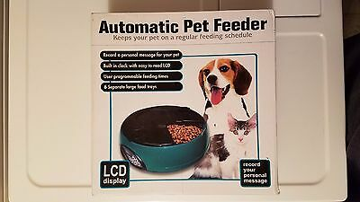 6 Meal Automatic Pet Feeder Auto Dog Cat Food Bowl Dispenser Electronic PF-18