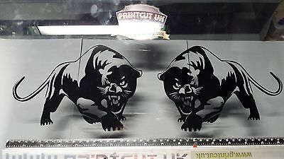 Scomadi Stickers Panthers Cats Vinyl Decals x2, Many Colours, 50 125 250 300 TL