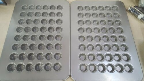 Lot of 2 - Chicago Metallic 45295 Glazed 48-Cavity Mini-Muffin Pan