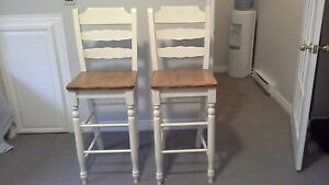 SOLD!! SOLID WOOD PUB STYLE CHAIRS