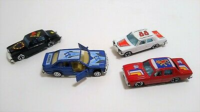 (4) Vintage Summer Diecast Cars 1/64 Toy Vehicles NICE