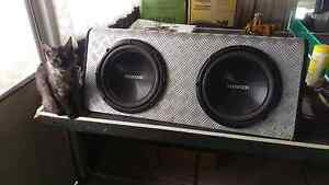Twin sub box with two 1000w kenwoods. Maddington Gosnells Area Preview