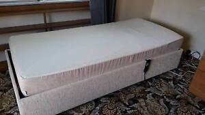 Tempur electrically adjustable single bed and mattress with motor Carnegie Glen Eira Area Preview
