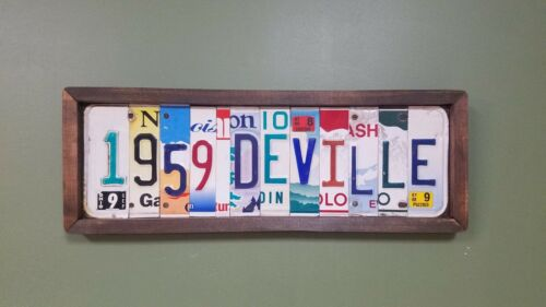 Custom License Plate Sign, Names, Personalized, Valentines Anniversary Gift