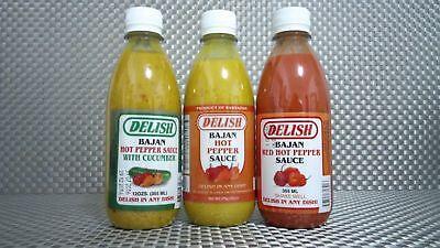 Mustard Pepper Sauce - HOT BAJAN PEPPER SAUCE!  RED/MUSTARD/CUCUMBER! Free shipping! 2 PACK SPECIAL!