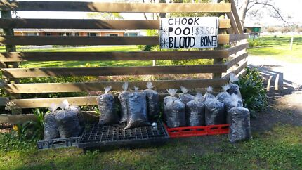 Chook poo blood & bone trailer loads and large bags- also deliver Tuerong Mornington Peninsula Preview