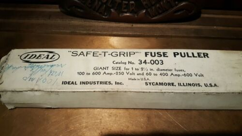 """PAIR Ideal """"Safe-T-Grip"""" Fuse Puller, MONTANA POWER COMPANY - CEFCO - OLD STOCK"""