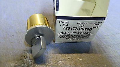 1 - Kaba Ilco Brass Mortise Cylinder 7201tk16-26d Length 1  New In Box