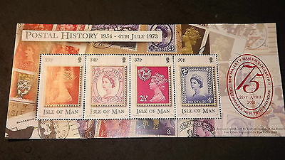 2001 Isle of Man Stamps Queen's 75th Birthday mini sheet 4 mint unused stamps