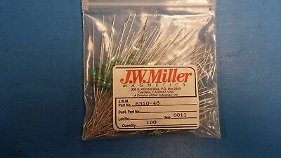 10 Pcs 8310-48 Jw Miller Fixed Rf Inductor 27uh 10 Axial Conformal Coated