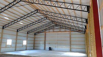 Steel truss pole barn 40' single truss 1 to 200 available