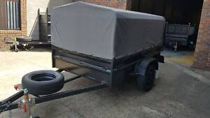 8x5 Box Trailer High Side With 600mm Cage and canvas cover $2300