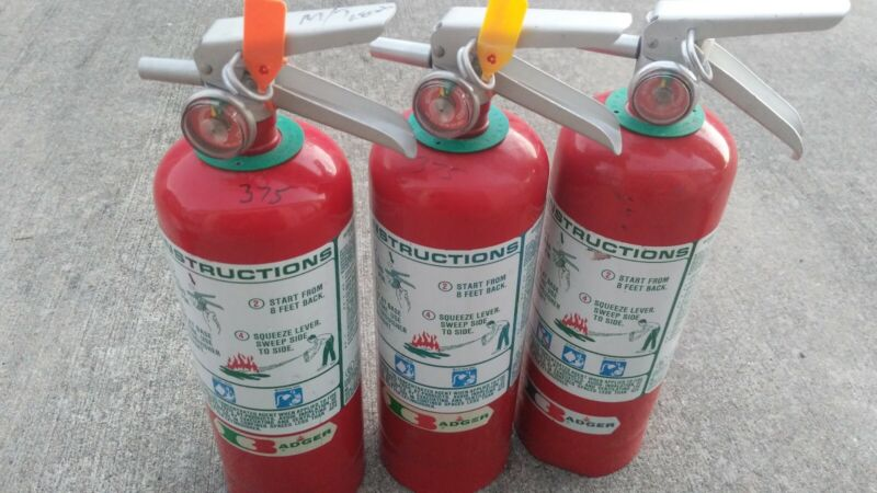 Badger 5lb Halon 1211 Clean Agent Fire Extinguisher Fully Charged Ships Free!