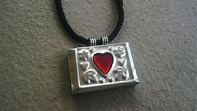Taweez Power Amulet Heart Locket Spiritual Pendant Luck Love with Black Cord