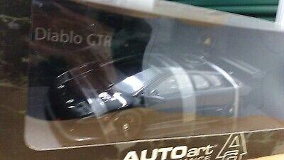 New 1:18 scale model by AutoArt Lamborghini Diablo GTR Coupe in Black.