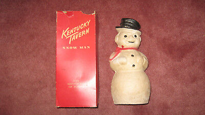 Vintage 1950's Kentucky Tavern Snow Man Paper Mache Bottle Cover Christmas decor - Tavern Man