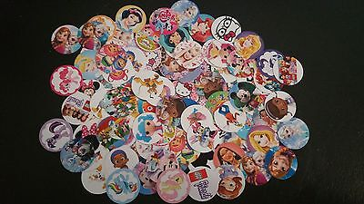 """100*Mixed Characters* Precut Bottle Cap Images 1"""" inch"""