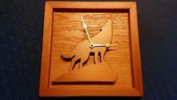 Wooden clock,  Handmade with Washington Red Cedar,