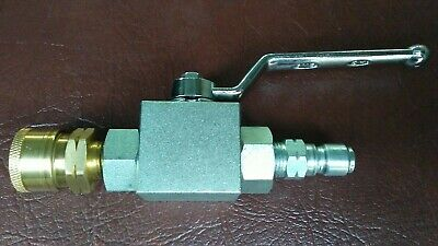 Pressure Washer Ball Valve- 4500 Psi- 38 Quick Connect Couplers Malefemale