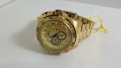 Invicta Speedway 25535 Men's Gold-Tone Stainless Quartz Chronograph Watch 52mm