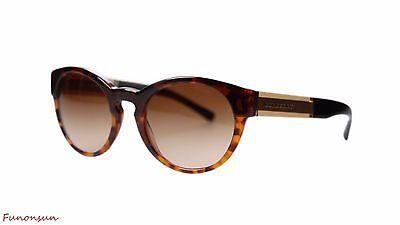a879ef87606d Burberry Women's Sunglasses BE4205 355913 Havana/Brown Gradient Lens Round
