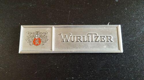 Wurlitzer name plate  vintage